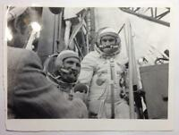 Real Photo Baikonur 70s Cosmonauts Interview Astronauts USSR