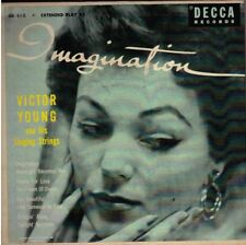 """VICTOR YOUNG! - """"IMAGINATION"""" TWO RECORD DECCA EXT PLAY 45 SET VG+ VPI CLEANED!"""