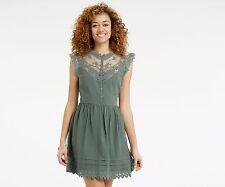 OASIS LACE SHIRT DRESS KHAKI GREEN 10