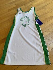 NWT sewn Boston Celtics NBA 4 Her Hardwood Classics L Jersey Dress