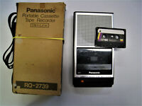Vintage 1982 Panasonic RQ-2739 Portable Cassette Recorder Cassette AC Cord Box