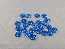 25 Glitzersteine  Blau  10 mm Bastel  Kartengestaltung  NO hot fix