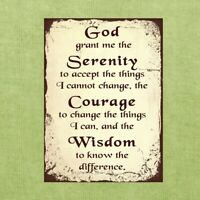 Vintage Classic Style Serenity Prayer Motivational Retro Tin Sign Metal Sign