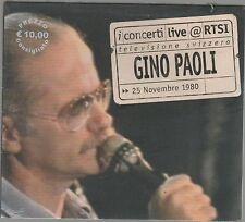 GINO PAOLI LIVE RTSI 25 NOVEMBRE 1980 CD DIGIPACK F.C.SIGILLATO!!!