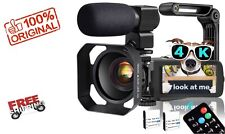 Video Camera,4K Camcorder WiFi Ultra HD 48MP YouTube Camera for Vlogging, 3.1''