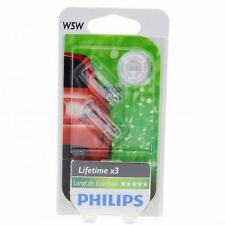W5W Philips LongLife EcoVision 4x Lifetime 12961LLECO Halogen DUO Blister 2 St.