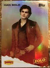 STAR WARS 2018 Star Wars A Story: Solo Denny's TOPPS Card Foil Han 1:100 Rare