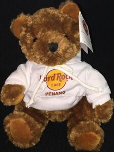 Hard Rock Cafe PENANG 2010 Classic Rockin' Teddy Bear Plush with HRC Logo Hoodie