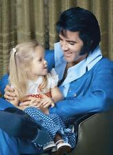 Elvis Presley - Elvis & Lisa Marie In a photo taken around 1970