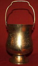 Vintage Engraved Brass Ice Bucket Cooler