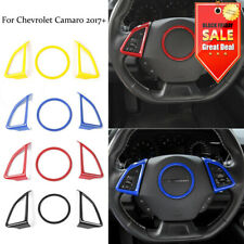 For Chevrolet Camaro 2017+ Car Interior Steering Wheel Cover Trim Decor Ring 3PC