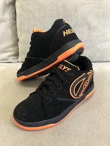 Kids Boys Heelys Wheelies Skate Roller Shoes 4Y 22cm Black Orange [KS2]