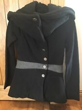 Balenciaga Black & Grey Winter Coat, BNWT, Size 36