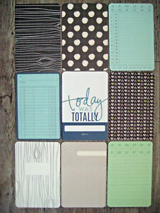 """PROJECT LIFE CARDS BY BECKY HIGGINS -  6"""" X 4""""  - SET OF 9"""