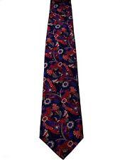 LORENZO CANA Tie Red & Blue Flowers