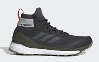 Adidas Mens Shoes Terrex Free Hiker Outdoor Hiking Boot Black Grey Size 9