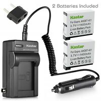 Kastar Battery Charger Hero Gopro4 GoPro AHDBT40 AHBB-401 Hero 4 HD Black Silver