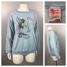 1980s Sailing Shirt Top / Pastel Novelty Print Souvenir Tee Blouse Top / Large