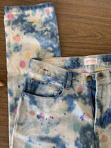 Gorman Paint Multi Colour Splatter Blue Painters Denim Jeans Women's Size 6 EUC