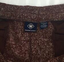 Booyaa Steez Men's XL Brown Lined Drawstring Pants Zipper Back Pockets