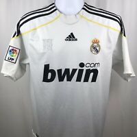 Adidas Real Madrid 2009 Mens Soccer Jersey White Size Small (TAG Medium). C9