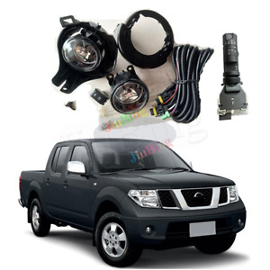 For Nissan Frontier Navara 2005-2014 D40 Fog Lights Kit +Bracket Switch Wiring