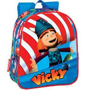 VICKY the Viking - Strong Padded Backpack with Netted Pocket - Size: 28x24x10cm