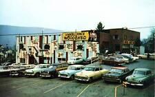 Photo. ca 1955. Lock Haven, Pennsylvania. Unkel Joe's Woodshed Used Cars