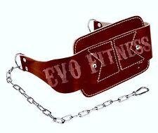 EVO Fitness Cintura in Pelle Dip per il Sollevamento Pesi Palestra Cinghie TRAINING ALLENAMENTO Catena