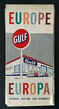 Vintage Gulf Oil Road Map • Europe (1963).