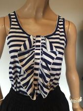 Cotton Blend Tank, Cami Striped Tops for Women