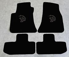 Autoteppich Fußmatten für Dodge Challenger Hellcat ab 08' Velours schwarz sw Neu