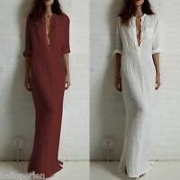 New Ladies Women Clubwear Party Bodycon Long Sleeve High Slit Fashion Dress