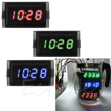 DC 12V Waterproof Digital LED RGB Dashboard Auto Clock Time for Car Motorcycle