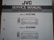 JVC AX-E71BK AMPLIFICATORE AX-E91BK delle parti manuale di servizio Cablaggio Diagramma di riparazione