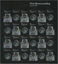 US 5399-5400 5400a 1969 First Moon Landing forever sheet (24 stamps) MNH 2019