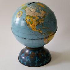 Vintage Tin World Globe Bank Ohio Art