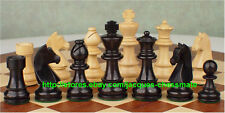NEW GERMAN KNIGHTS EBONIZED STAUNTON WOODEN CHESS SET!!