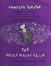 "Frank Loesser ""MOST HAPPY FELLA"" Inia Wiata 1961 Australian Souvenir Program"