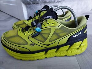Hoka One One Men's Conquest  TRAINERS  Road Running Shoes - UK Size 10/ NEON