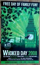 Wicked Day 2008 poster from Wicked the Musical, Apollo Victoria Theatre