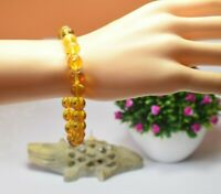 Amber Bracelet Beads Natural Stone Gem Authentic Dominican 9.45 mm (9.9 G) A907