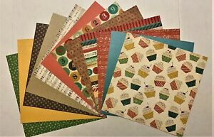 """12""""x12"""" SCRAPBOOK PAPER - 12 sheets   BIRTHDAY   *** FREE SHIPPING ***  HBD-03"""