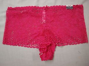 CACIQUE Lane Bryant NWT PINK lace cheeky short panty boy short