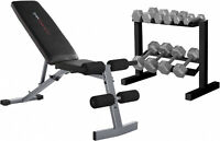 CAP Strength FID Bench w/ 150 Lb Dumbbell Set Gym Home Fitness Workout Equipment