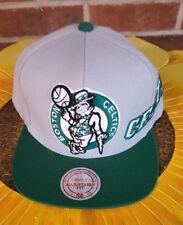 New Boston Celtics Mitchell & Ness Hardwood Classics Gray & Green Adjustable Hat