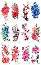 US SELLER, 12 sheets womens lower back rose flower temporary tattoo