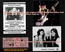 Johnny Winter Orig 1973 Ticket Display 8x10 Best Still Alive & Well New Sale Exc