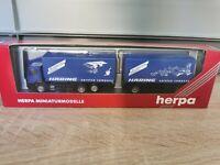 (Box K13) Herpa LKW H0 1:87 MB Hängerzug Häring OVP