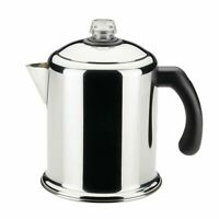 8 Cup Stovetop Percolator Coffee Pot Maker for Camping Home Kitchen NEW Freeship